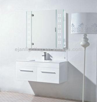 LED Illuminated Bathroom Mirror Cabinet With Shaver Socket