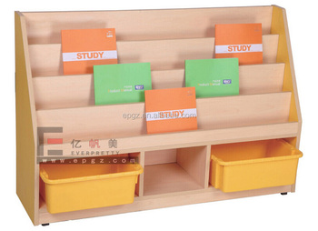 Preschool Furniture Of Indian Style Wooden Kids Toys Book Wardrobe Cabinet