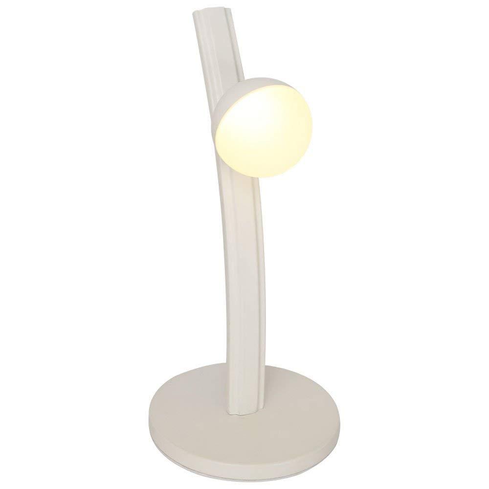 Hines Simple Modern Bedroom Bedside Eye Protection LED Desk Lamp Desk Student Dormitory Folding Study Table Lamps White Living Room Office High Brightness Energy Saving Table Light