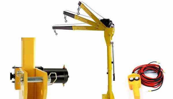12 24v Electric Mini Swivel Shop Lifting Crane With