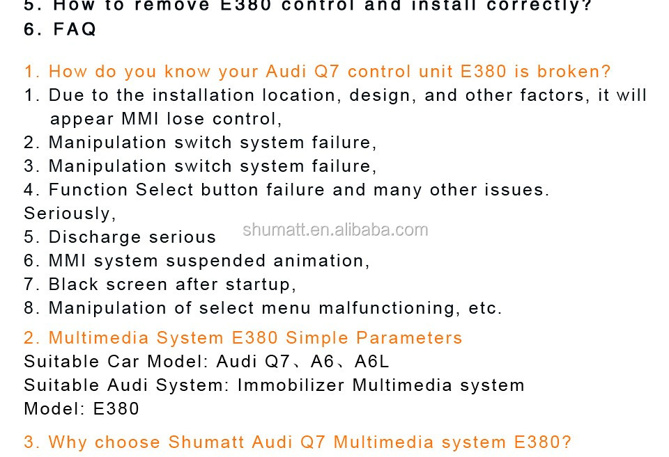 Multimedia GPS navigator 2G system E380 MMI control panel circuit board for Q7 A6