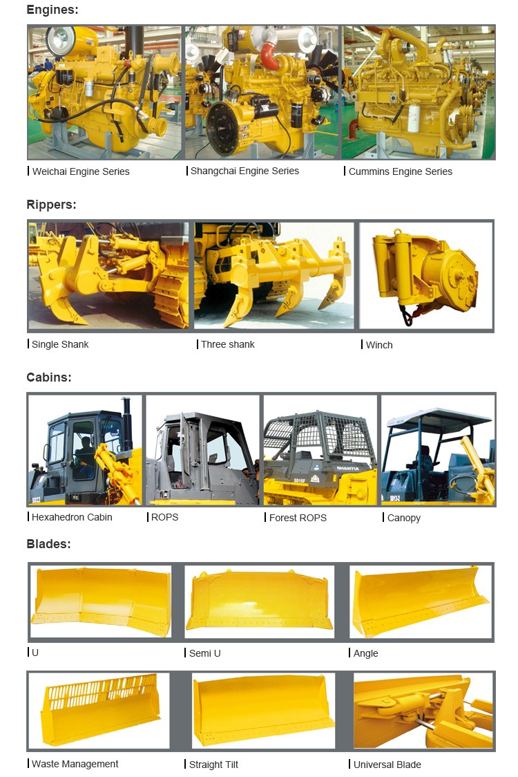Chinese manufacturer track-type HBXG 37 ton bulldozer SD8B hot sale