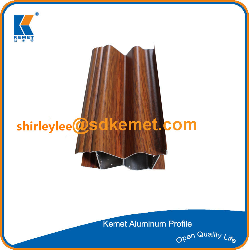 China 6063 t5 wood grain aluminum profile with high quality