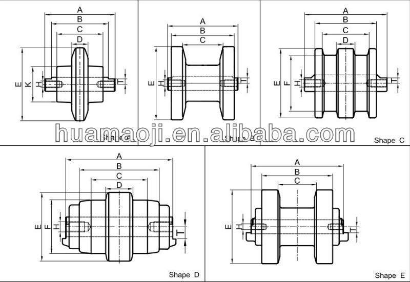 Undercarriage Bachone Digger Parts Kh8 Mini Excavator Track Rollers - Buy  Mini Excavator Track Rollers,Kh8 Track Roller,Mini Excavator Track Rollers