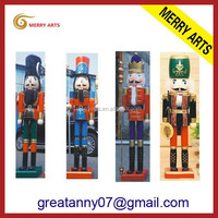 JInhua Zhejiang new products in stock selling 6ft giant wooden soldier figurine nutcracker for supermaket decor