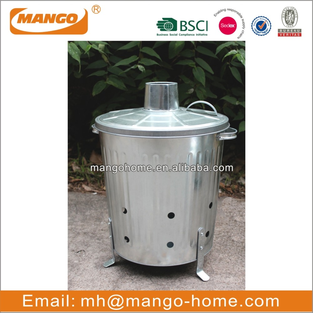 Hot Sale 90 Litre Galvanised Garden Incinerator