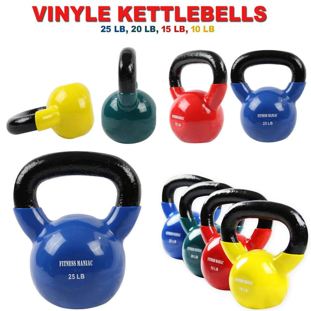 FITNESS MANIAC Vinyl Coated Kettlebell for Cross Training Swing Strength  Body Fitness Home Gym Exercise Workout