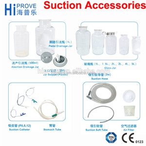 Catheter Soft Stomach Tube Suction Glass Jar 1L 2L 3L