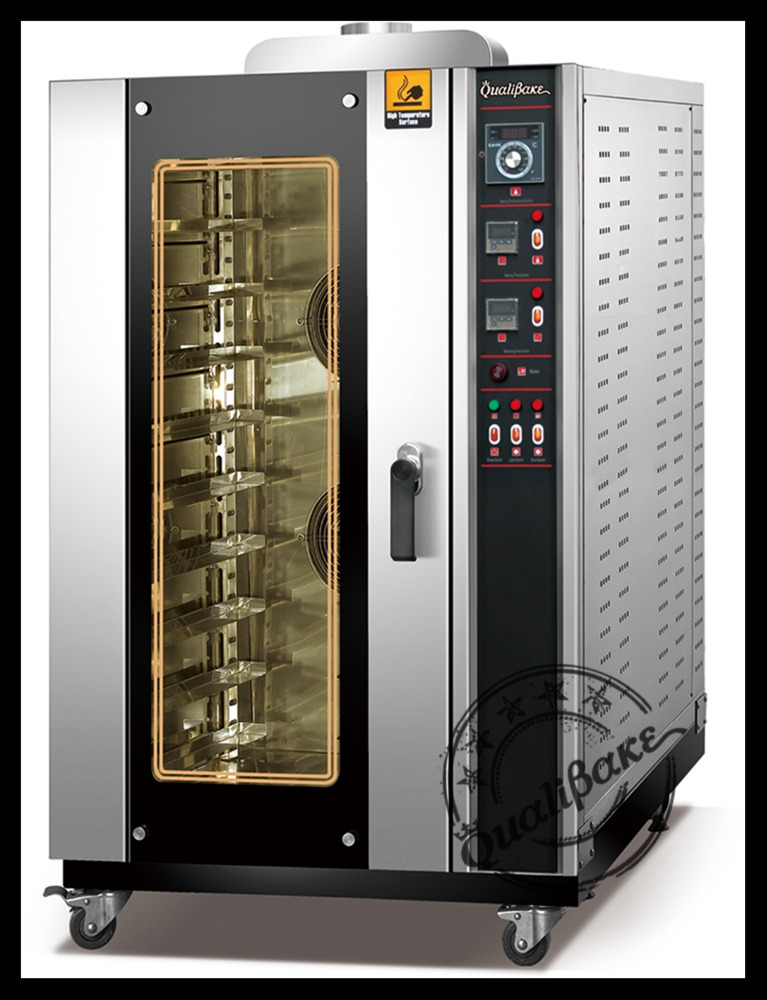 CE certified manufacturer of baking oven offers commercial combi oven design using gas capacity 10 trays