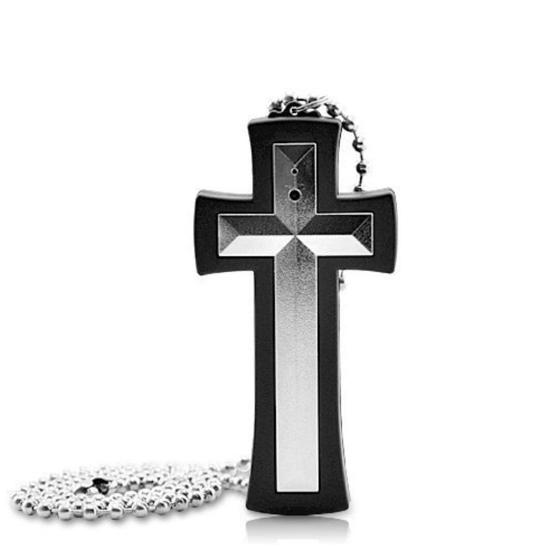 Smart Tech Store Wearable Cross Necklace Hidden Spy Camera 4GB Internal Memory