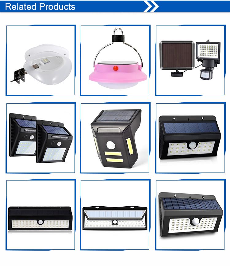 Kualitas Tinggi Sensor Gerak Outdoor Solar Light LED Super Terang Tenaga Surya untuk Taman