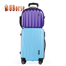 14''+20'' carry on luggage set, hard side travel trolley luggage bag wholesale