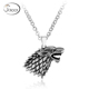 Wolf head pendant, 316L stainless steel jewelry pendant
