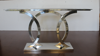 Stainless Console Table,brown Glass Console Table,Luxury Furniture