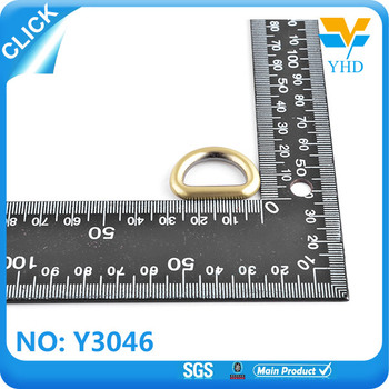 open metal nickel free d ring piercing