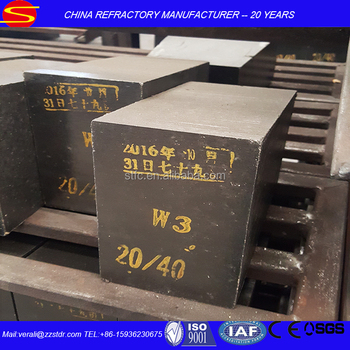 Steel ladle magnesium carbon refractory bricks in slag zone
