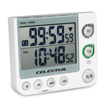 Merveilleux High Quality Dual Timer,LCD Digital Kitchen Alarm Countdown Timer,digital  Countdown Timer