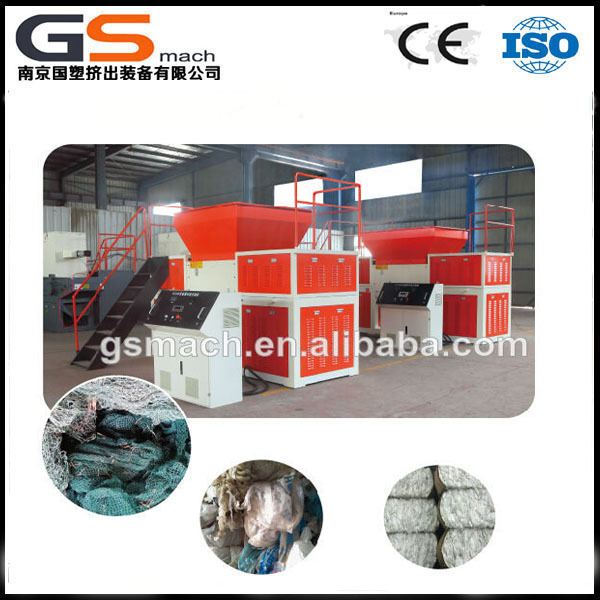 GS -mach plastic recycling machinery single shaft used tyre shredder machine price