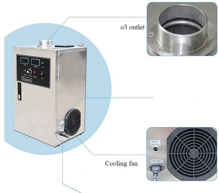 ozone machine with ceramic plate making ozone