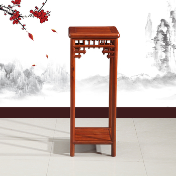 Chinese Style Livining Room Furniture Garden Carved Antique Wooden Flower  Stand Designs