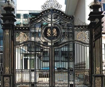 New Design Modern Garden Artistic Wrought Iron Gate