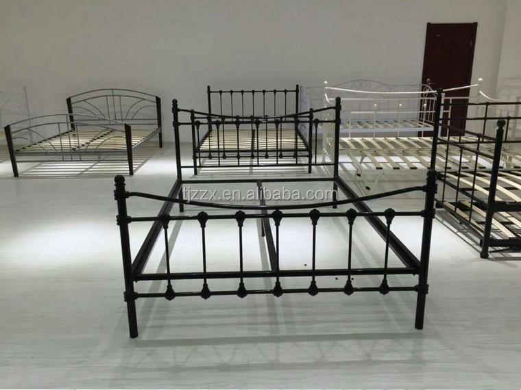 slaapkamer meubels eenvoudige dubbele kingsize metalen bed frame