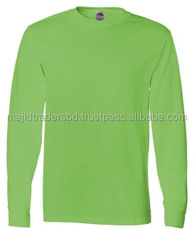 kelly green and mix color t-shirt Made in bangladesh and high standard material