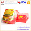 Customized food grade burger packaging/chicken burger boxes for fast food packaging