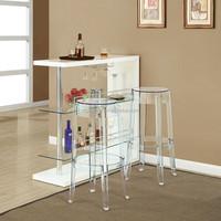 Wholesale custom made lucite clear acrylic vanity stool
