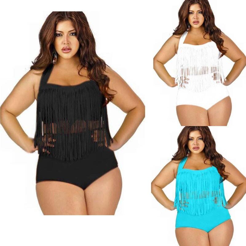 47fc2f6fec Get Quotations · 2015 Push Up Bikini High Waisted Triangl Swimwear Bikini  Neoprene Bikini Women Swimsuit Plus Size Suit