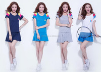 High quality wholesale women tennis skirt/table tennis jersey/women tennis dress