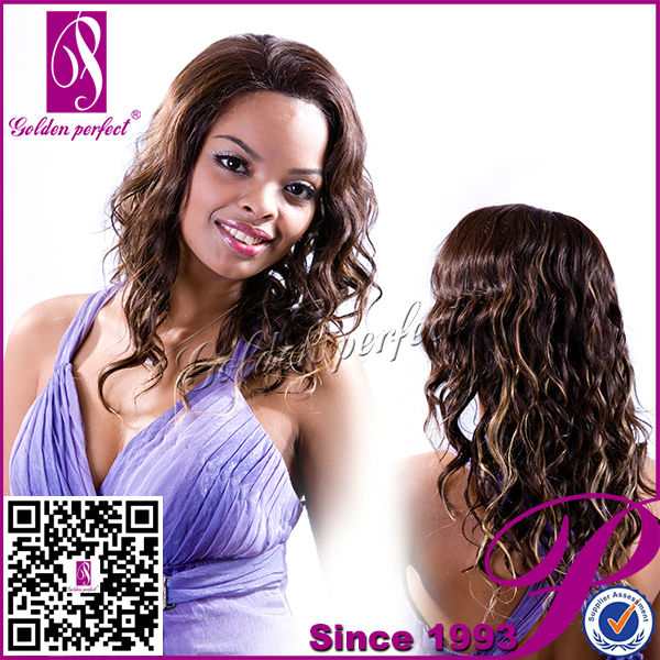 Platinum Full Lace Wig Ombre Color Wet And Wavy Brazilian Hair