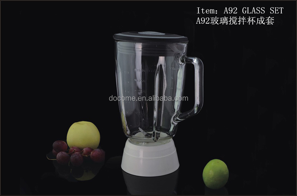 1.8 Liter Large Capacity Blender Glass Jar And Spare Parts Fitting ...