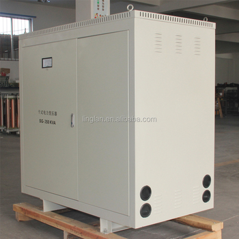 3 phase 350kva dry type isolation power transformer