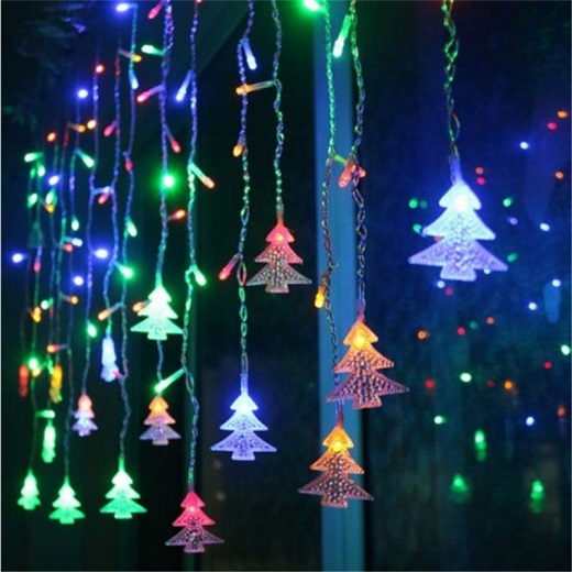 216pcs/5m 96pcs/3m led curtain christmas tree string lights