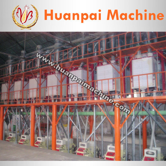 80ton wheat/maize/corn flour mill machinery with high quality in turnkey project / low price flour mill plant