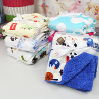 2018 Soft Cotton Double-deck Floral Printed Kids Home Moving Baby Swaddle Blanket