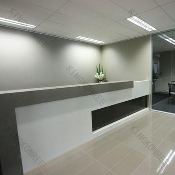 Artificial marble stone resin office reception counter for Reception scrivania