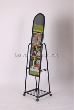 Cheap Metal Framed Movable Dressing Standing Mirror For Floor Mirror ...
