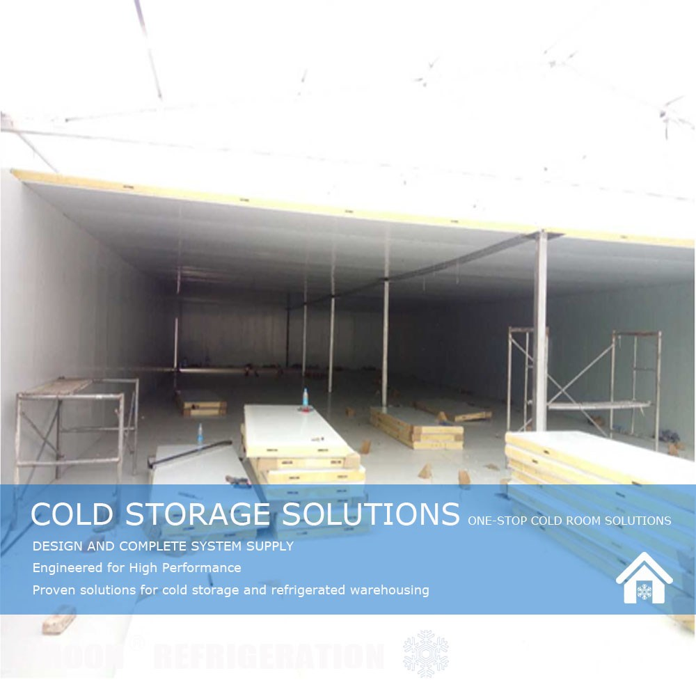MOON 5000t tomato cold storage room frozen for meat and fish shelving