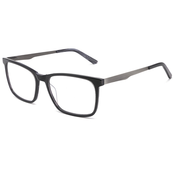 acetate Eyeglasses frame optical glasses Red color temple eyeglasses