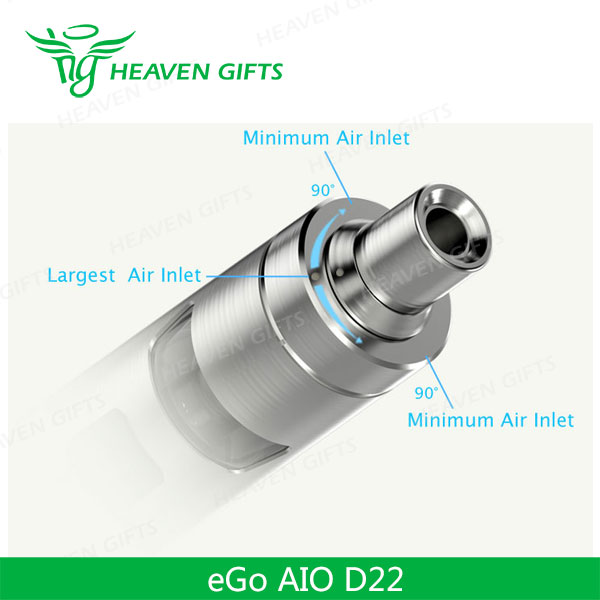 China Suppliers 2.0ml Joyetech 2ml Ego Aio D22 D19 D16