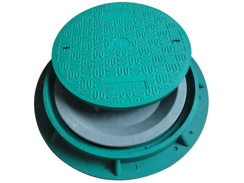 Brand new round cover manhole cover ductile iron cover with lock