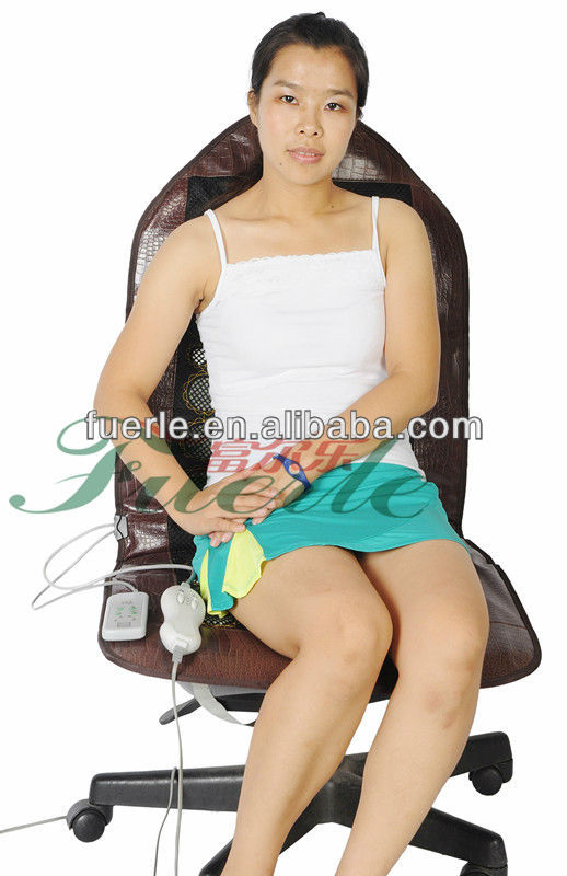 Vibration Massage Seat Cushion, Best-selected jade stone and delicate leather