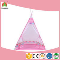 Exquisite polyester pink camping tent