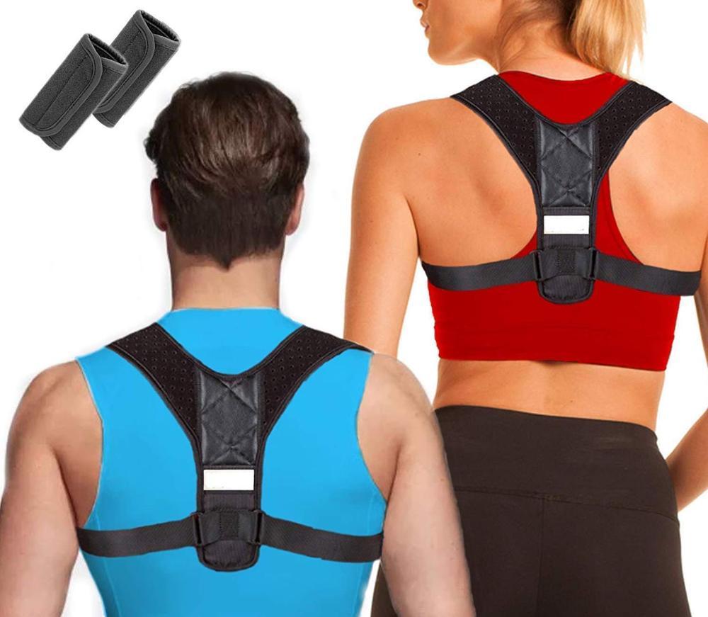 Upper Back Posture Corrector Shoulder Support Brace Clavicle Brace with Private Label, Black or other custom color