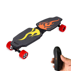 2018 Amazon hot selling Electric Skateboard with 2 motors 500W cheap foldable electric skateboard with Remote Control for adults