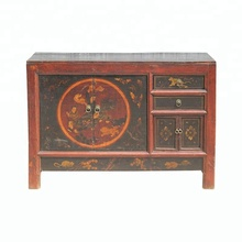 chinese antique lacquered drawer storage buffet cabinet furniture