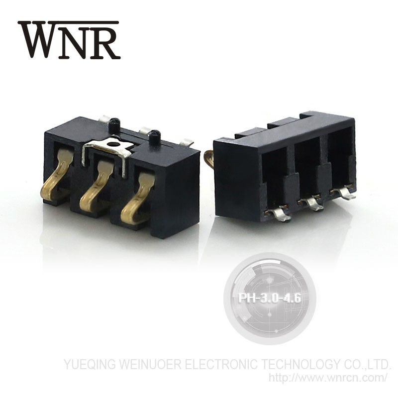 Good Quality WNRE cell mobile phone battery connector PH-3.0-4.6 Battery Connector SMT