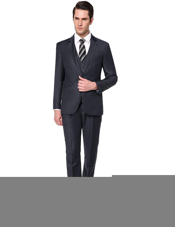 363c76eed6b0 Get Quotations · eshion Mens Grey Suits Mens Pinstripe Suit Casual Suits  for Men Suits